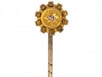 Victorian 15ct Gold & Diamond Tie Pin