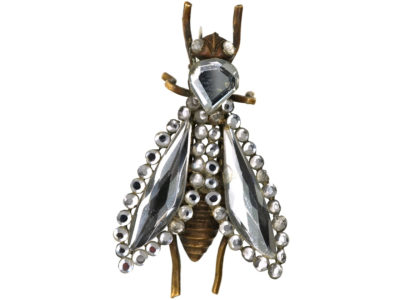 Victorian Vauxhall Glass Bee Brooch