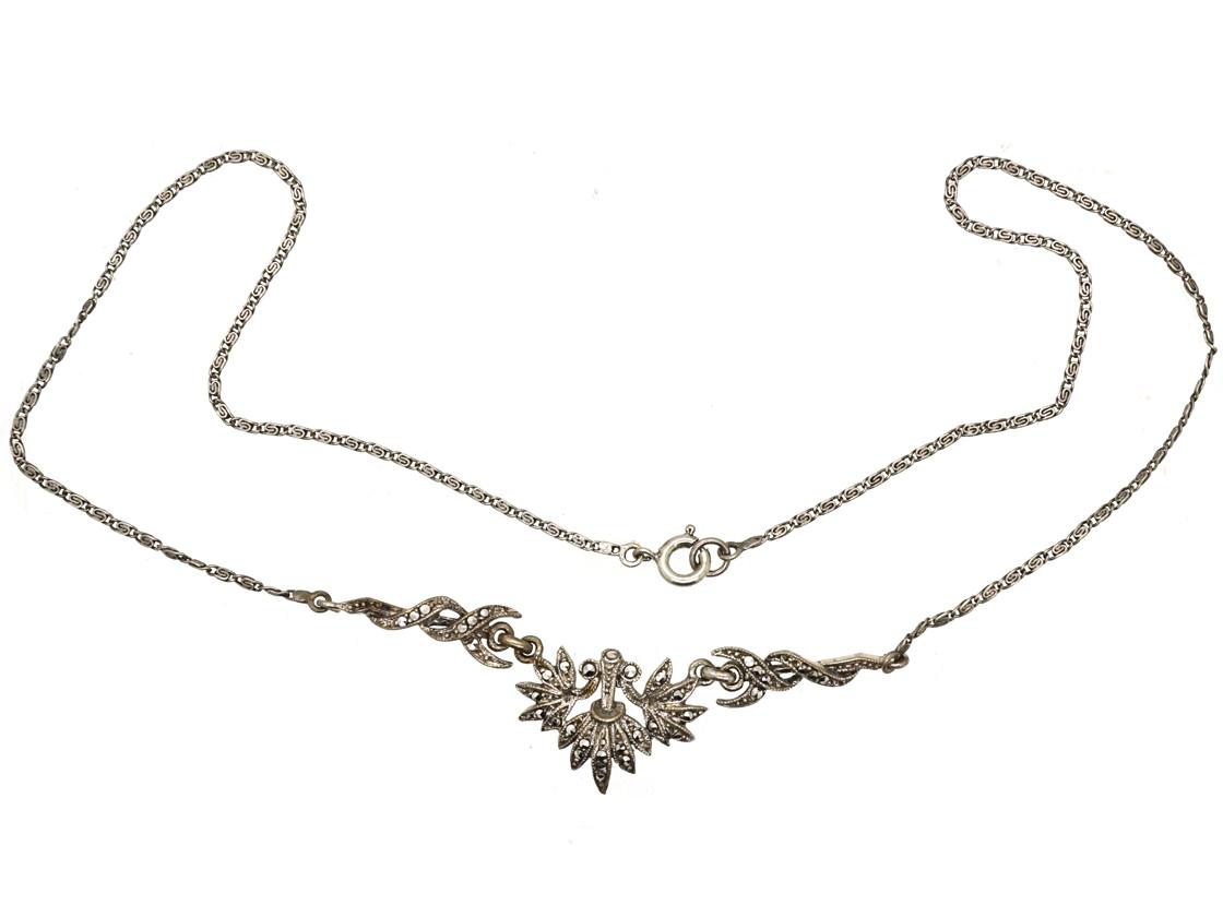 Art Deco Silver & Marcasite Necklace