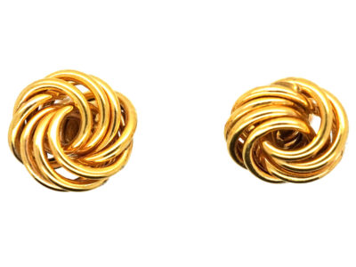 9ct Gold Small Knot Earrings