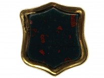 Victorian Small Gold Cased Seal With Bloodstone Base