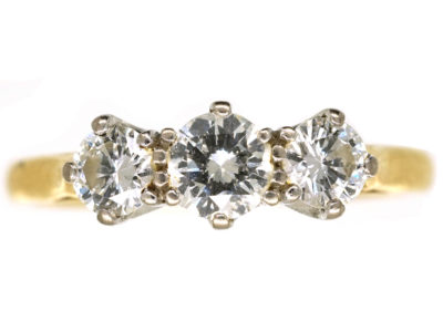18ct Gold, Three Stone Diamond Ring