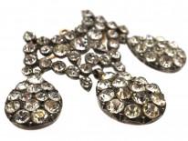 Georgian Silver & Paste Triple Drop Brooch