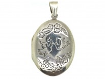 Two Doves Silver Locket
