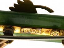 9ct Gold New Zealand Jade Brooch