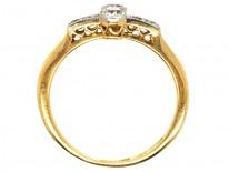 Edwardian 18ct , Platinum & Diamond Two Stone Ring