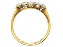 Edwardian 18ct Gold , Platinum & Diamond Cluster Ring