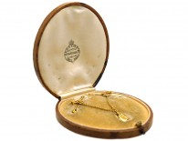Pair of 15ct Gold Nautical Brooches With Lantern in Original Case