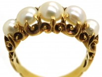 William IV 18ct Gold & Natural Bouton Pearl Ring