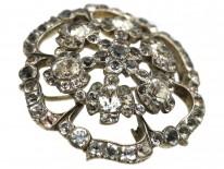 Georgian Silver & Paste Flower Brooch