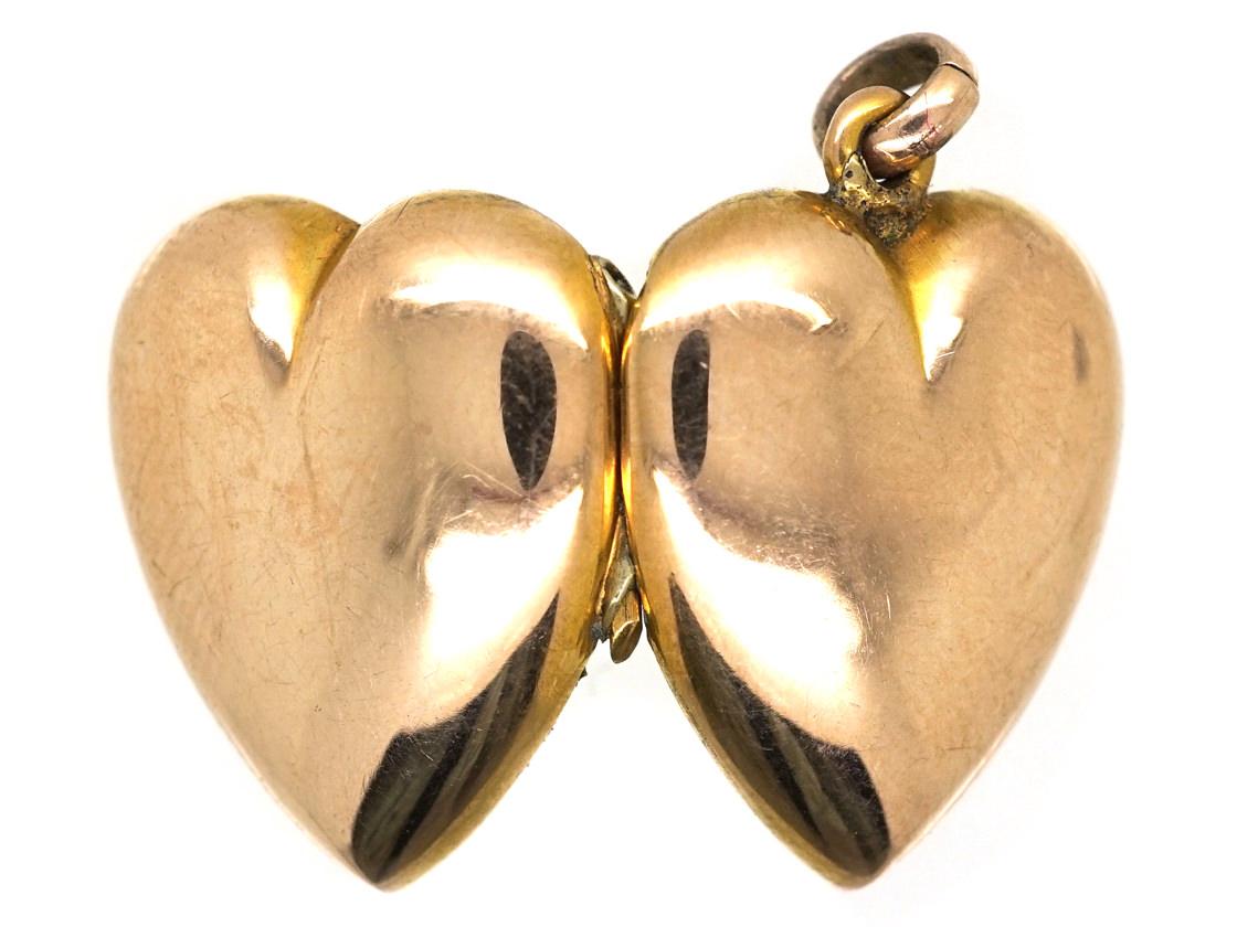 Edwardian 9ct Gold Heart Locket