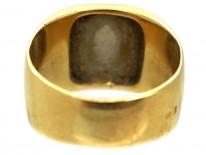 French Platinum & 18ct Gold Signet Ring