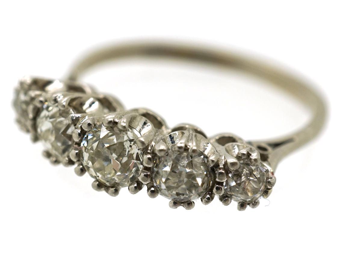 Platinum & Diamond Five Stone Ring