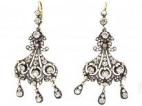 Large Triple Drop Diamond Earrings