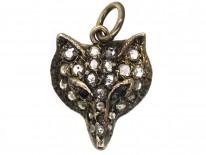 Rose Diamond Fox Pendant