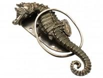 Art Deco Silver Seahorse Clip