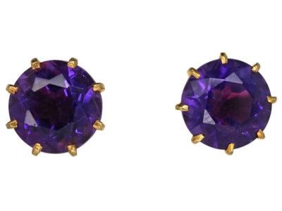 Amethyst & Gold Earrings
