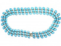 Norwegian Silver & Blue Enamel Necklace by  Jan Baalerud