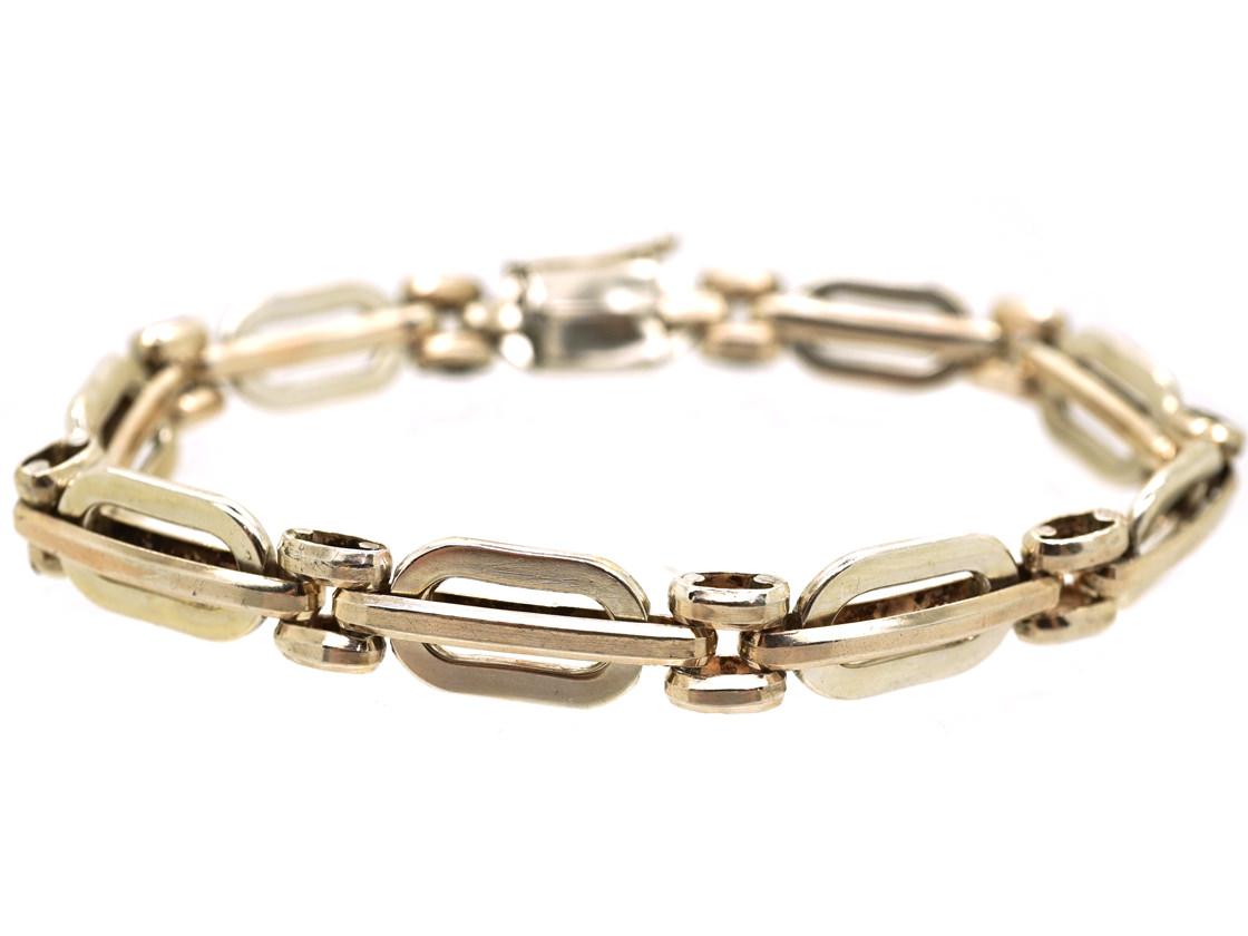 Silver Two Colour Bracelet