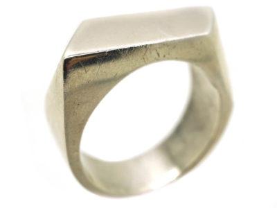 Sculptural Silver Ring