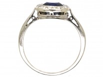 Early 20th Century Swedish Sapphire & Diamond Cluster Ring