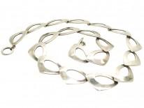 Swedish Silver Interlinked Necklace