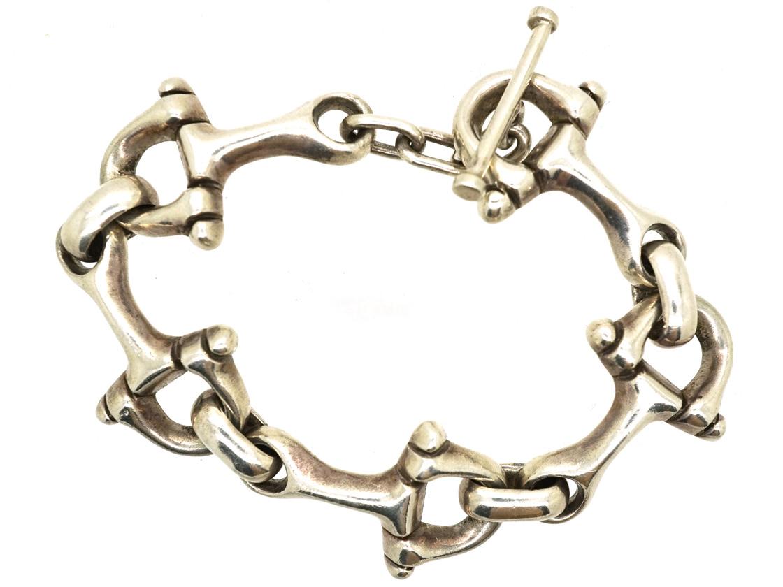 Silver Horse Bridle Bit Bracelet