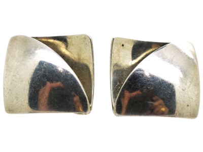Silver Modernist Earrings