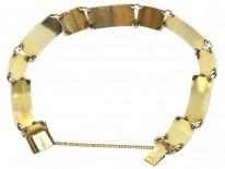 Silver, Black & Green Enamel Bracelet by Ottar Hval