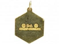 """Libra"" Silver Gilt & Enamel Pendant by David Andersen"