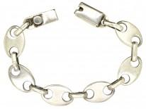 Silver Anchor Link Bracelet