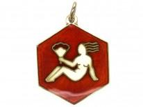 Virgo Silver Gilt Pendant by David Andersen