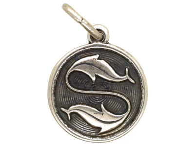 Silver Pisces Charm by David Anderson