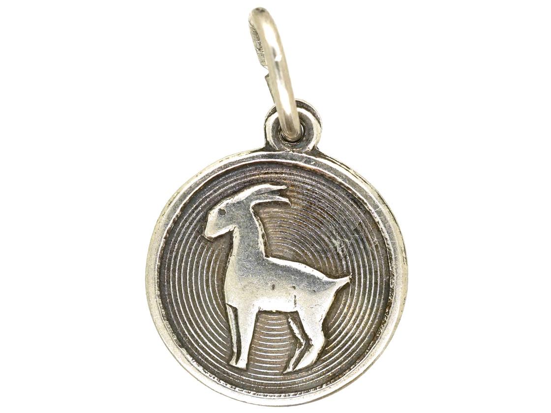 Silver Capricorn Charm by David Anderson