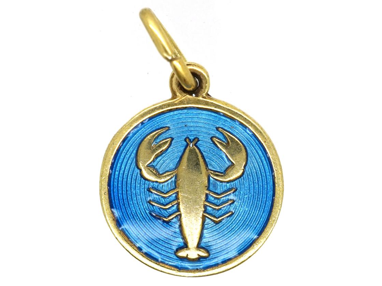 Silver & Enamel Scorpio Charm by David Anderson