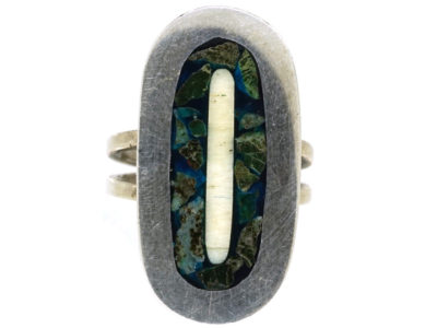Mexican Silver Oval Ring
