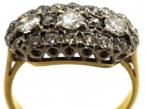 Edwardian 18ct Gold Three Stone Cluster Ring