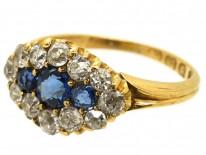 Edwardian 18ct Gold, Diamond & Sapphire Ring