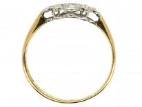 Edwardian Diamond, 18ct Gold & Platinum Diamond Shaped Ring