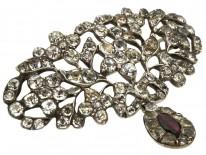 Georgian Silver, Garnet & Paste Brooch