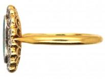 Edwardian 18ct Gold & Platinum, Black Opal & Diamond Ring