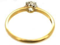 Edwardian 18ct Gold, Diamond Solitaire Ring