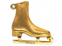 9ct Gold Skate Boot Charm