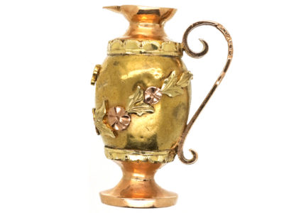 French 18ct Three Colour Gold Ewer Charm