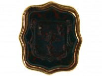 Georgian Small Gold Cased Seal With Bloodstone Intaglio