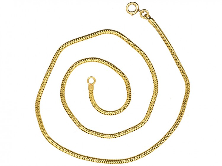 French 18ct Gold Snake Chain