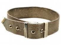 Silver 1930s Buckle Bracelet