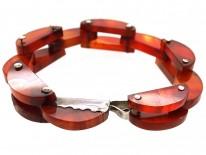 Victorian Scottish Carnelian & Silver Bracelet