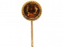 Victorian 15ct Gold Citrine Tie Pin