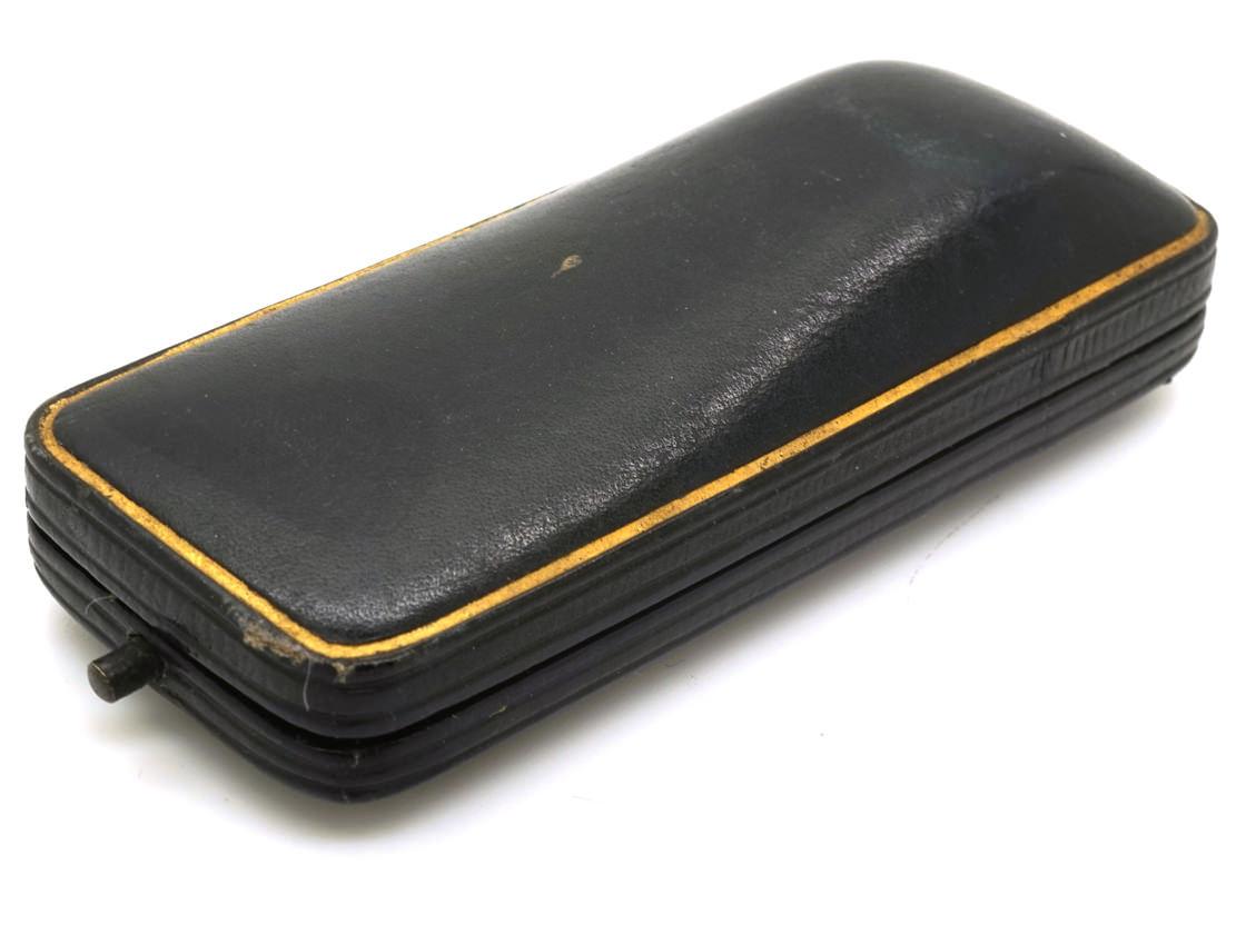 Edwardian Diamond Hound Tie Pin in Original Tessier Case